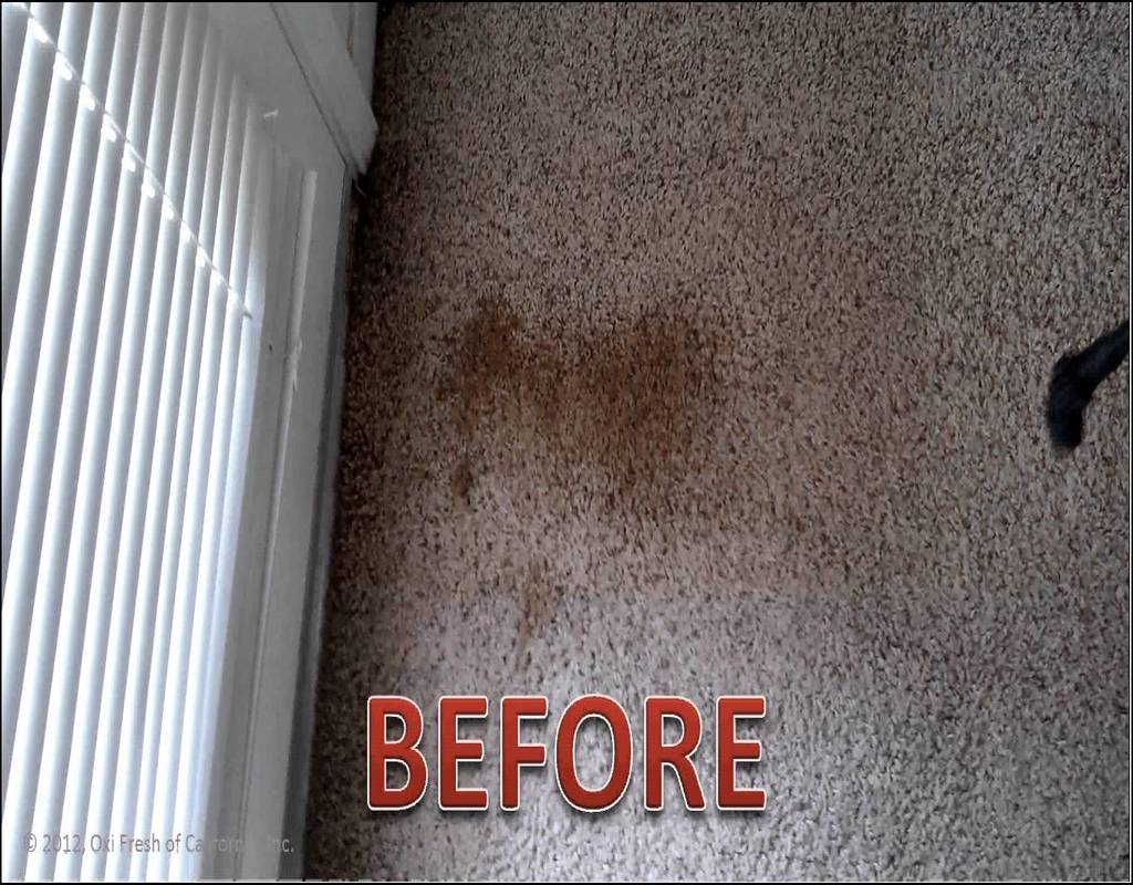 how to clean dry stains from a carpet