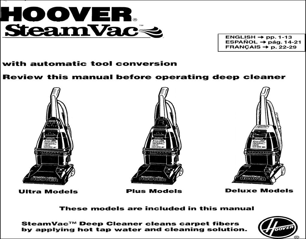 Hoover Carpet Cleaner Manual Cruzcarpets Com