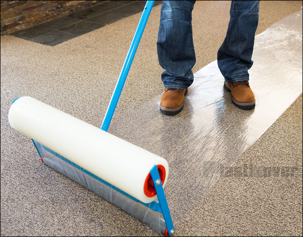 plastic-sticky-carpet-protector Plastic Sticky Carpet Protector