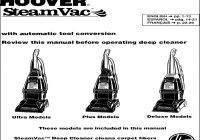 Hoover Carpet Cleaner Manual